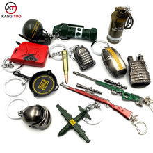 Game PUBG Keychain AWM 98K Pan ALL Rifle Model Playerunknown's Battlegrounds Cosplay Props Alloy Armor Key Chain llaveros Key(China)