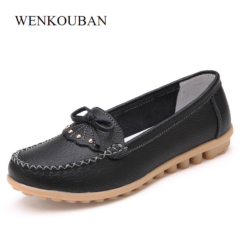 Butterfly Knot Shoes Women Ballet Flats Summer Moccasins Loafers Elegant Black Shoes Slip On Ladies Casual Shoes Zapatos Mujer summer ballet flats women leather shoes casual fringe slip on basic work shoes rubber soft bottom zapatos mujer