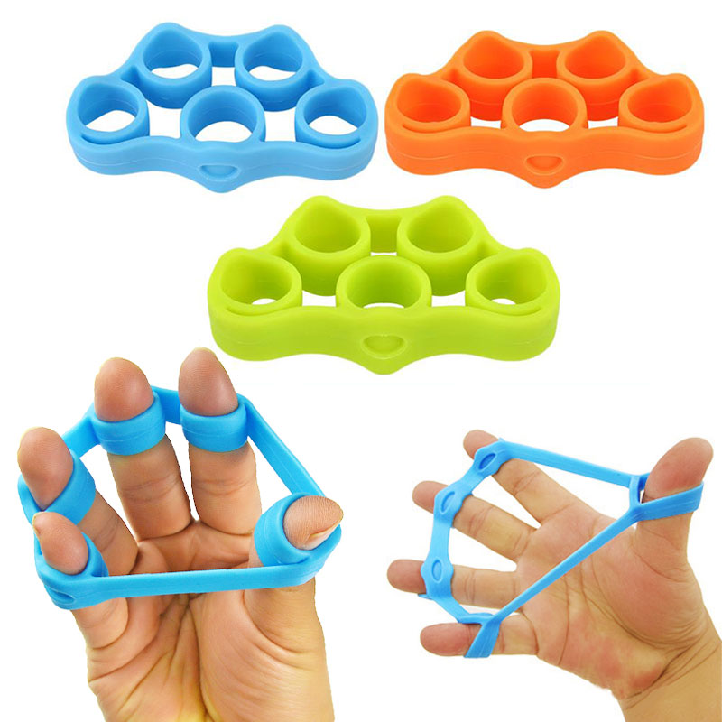 1Pcs Silicone Finger Gripper Strength Trainer Resistance Band Hand Grip Wrist Yoga Stretcher Finger Expander Exercise 3 colors hand gripper resistance bands finger high elastic silicone hand exerciser training grip strength wrist trainer fitness equipment