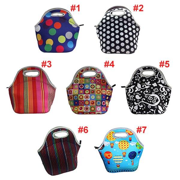 Thermal Insulated 3d Print Neoprene Lunch Bag For Women Kids Lunch Bags Cooler Insulation Lunch Box Food Bag Bolsa Feminina
