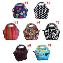Термоизолированная неопреновая сумка для обеда с 3D-принтом для женщин и детей, сумки для обеда, охлаждающая изоляционная сумка для обеда, сумка для еды, Bolsa Feminina
