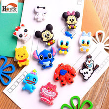 1pcs Mini silicone Cartoon Animal fridge magnets whiteboard sticker Refrigerator Magnets Kids gift Home Decoration Free shipping(China)