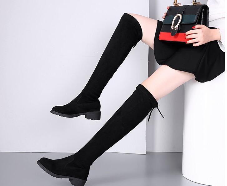 Modelos Versión 2018 Invierno Otoño Negro Con Delgada Era E Versátil En Coreana Botas Y nSS4WCxU
