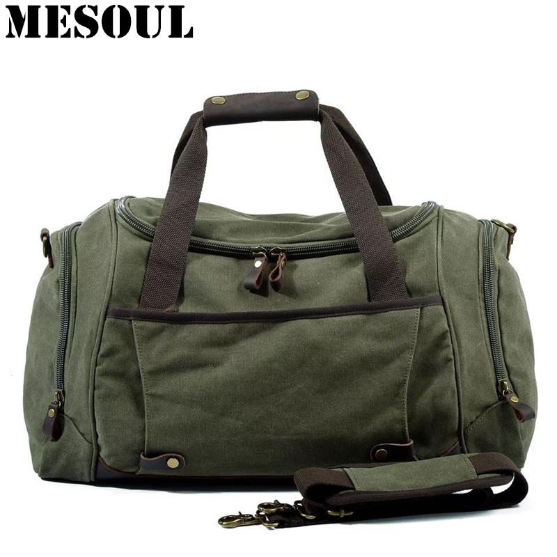 Men Duffle Bag Canvas Carry On Weekend Bag Male Tote Overnight Multifunction Military Large Capacity Casual Luggage Travel Bags men duffle bag canvas carry on weekend bag male tote overnight multifunction military large capacity casual luggage travel bags