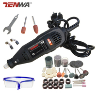 TENWA 180W Electric Mini Drill Grinder Dremel Style Variable Speed Rotary Tools DIY Electric Hand Drill Machine with Accessories