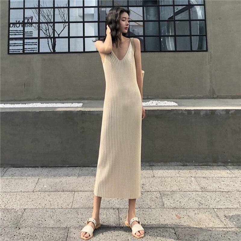 Женское трикотажное платье Colorfaith, длинное Повседневное платье без рукавов с треугольным вырезом на осень и зиму, DR4659, 2019