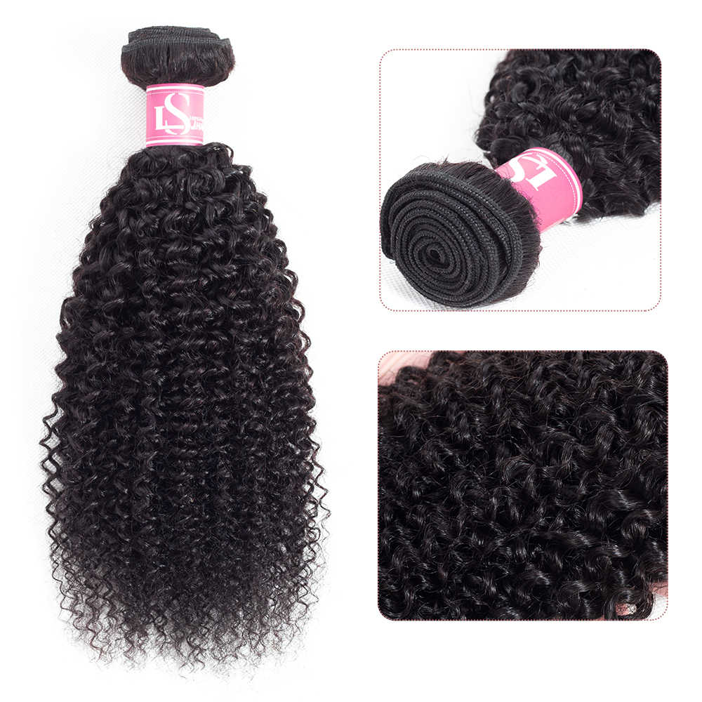 Brazilian Curly Hair Extension 100% Human Hair Weave Bundles Natural Color Remy 1 Pc Deal Can Buy 3 or 4 Bundles LS Hair