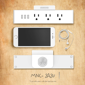 Image 5 - NTONPOWER MNC Wall Mounted USB Power Socket US Standard Electrical Plug 3 AC Outlet 3 USB Smart Charging Ports with Phone Holder