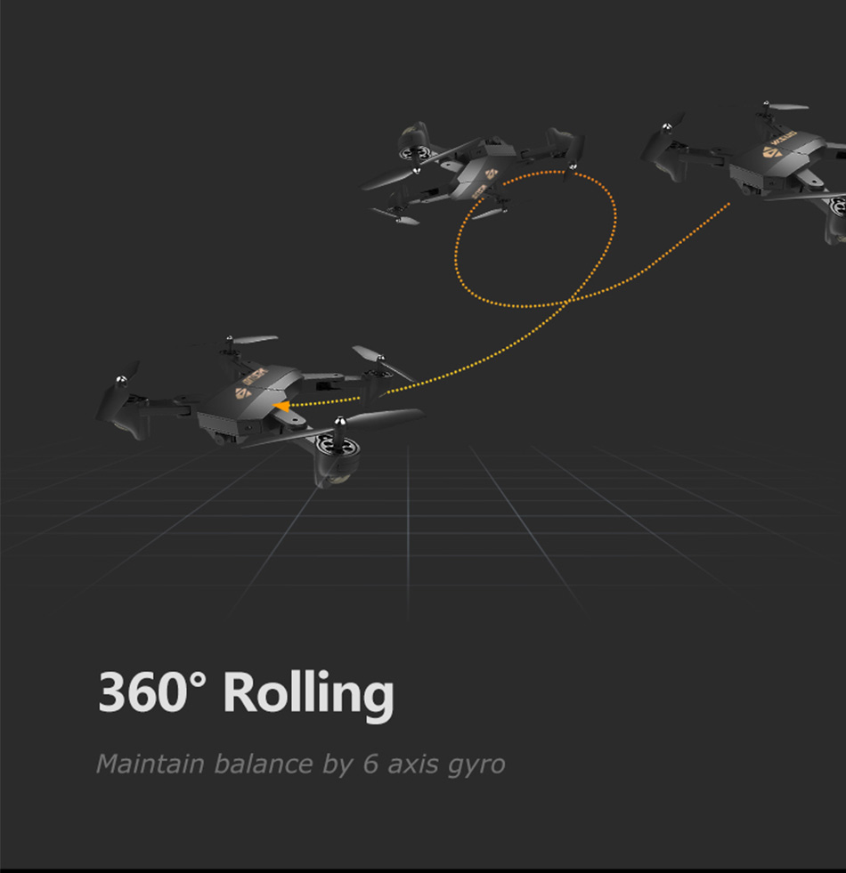 Foldable Racing Drone with FPV Wide Angle HD Camera Altitude Hold RC Quadcopter Helicopter VS VISUO XS809W XS809HW H37 H47 Dron 16