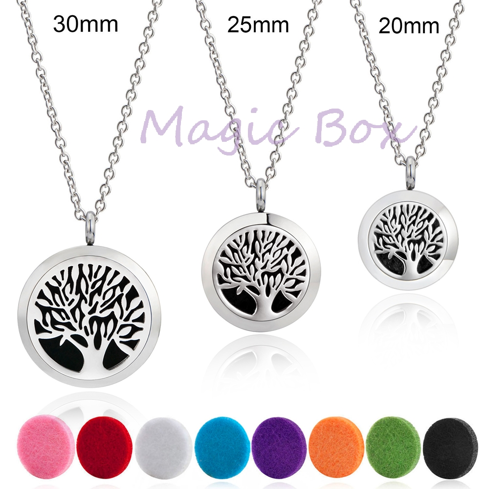 Free chain and 8 Pads Aromatherapy essential oil diffuser necklace locket pendant Necklace diffuser pendant stainless