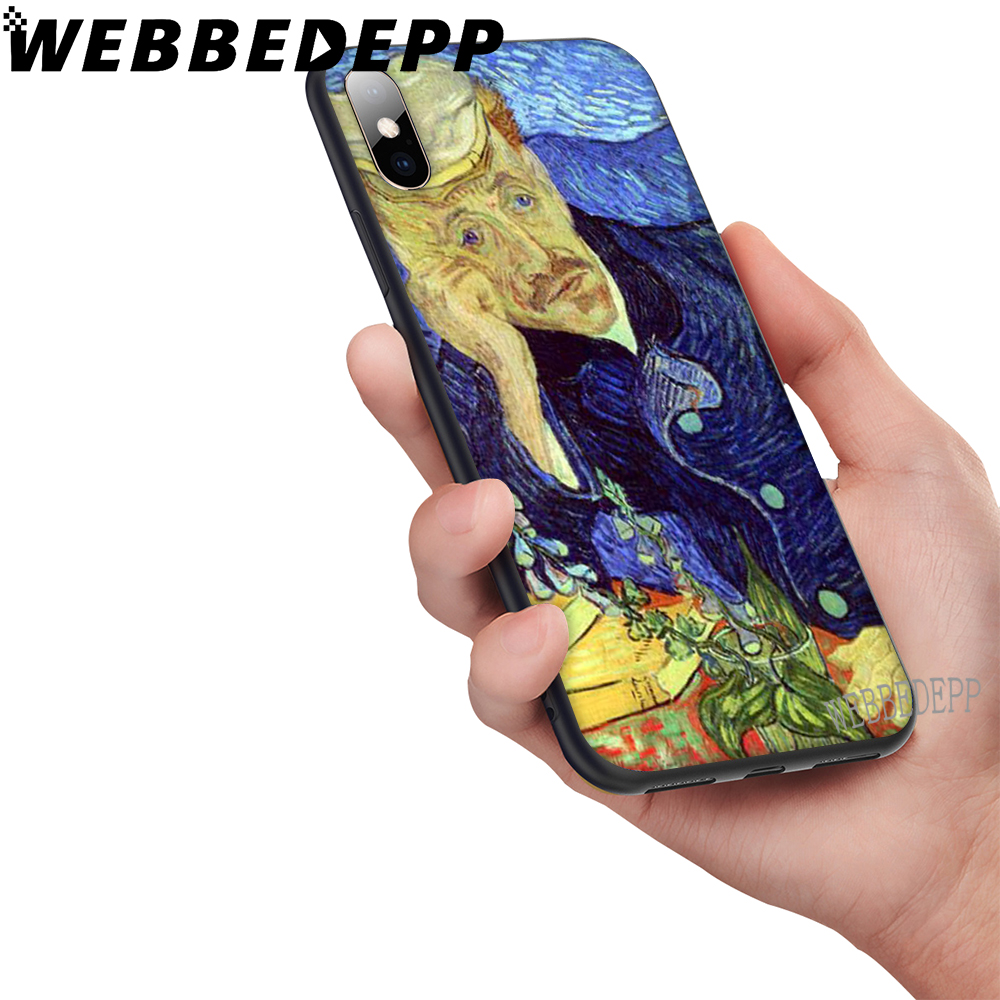 WEBBEDEPP Van Gogh Art Soft Case for iPhone 5 5S 6 6S 7 8 Plus X XS 11 Pro MAX XR Cover in Fitted Cases from Cellphones Telecommunications