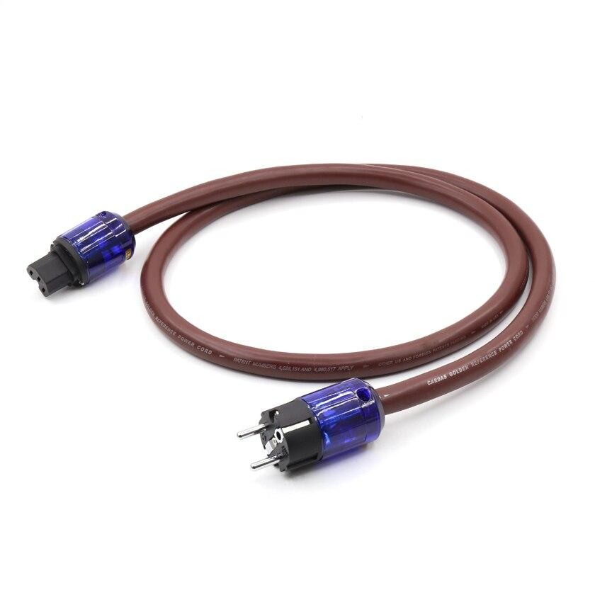 1.5M EU version 6N Copper Power Cable Cord HIFI Audiophile Rhodium Plug
