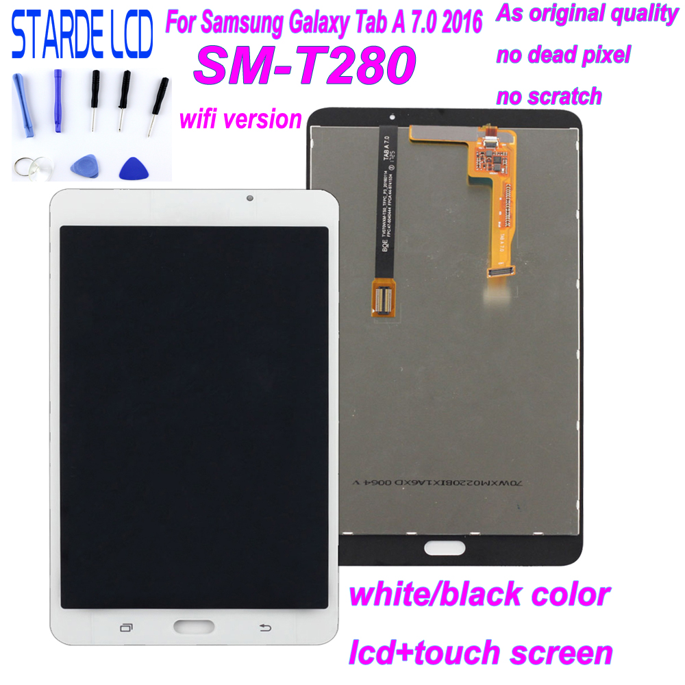 STARDE LCD for Samsung Galaxy Tab A 7.0 T280 SM T280 Wifi Version LCD Display Touch Screen Digitizer Assembly with Free Tools