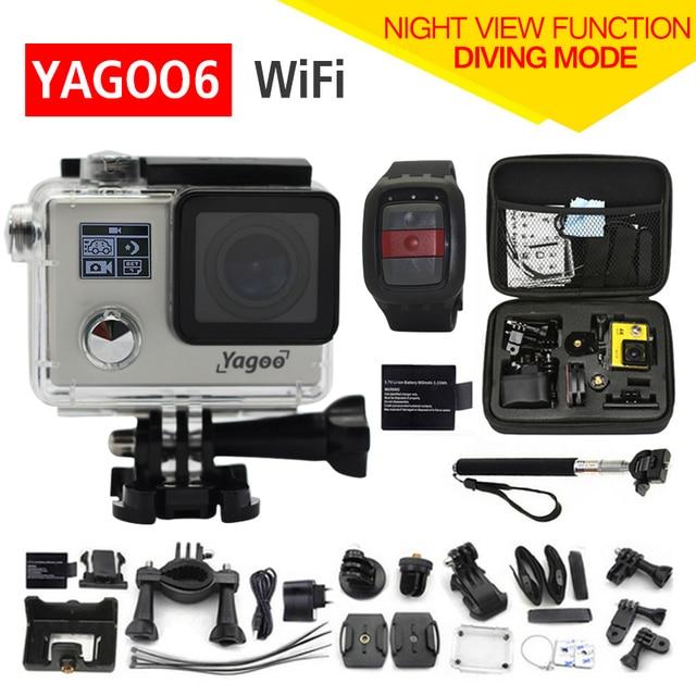 Gopro hero 4 estilo YAGOO6 Wifi Action Camera 1080 P Controle Remoto Extrema ir pro Mini Cam Mergulho À Prova D' Água Esporte câmera