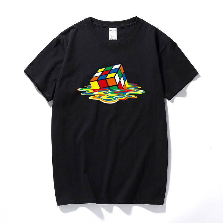 Men's Clothing T-shirts Precise 2017 Summer New Men T-shirts The Big Bang Theory Printed Stylish Design Rubik Cube T Shirts Casual 100% Cotton Short Sleeve Tees Activating Blood Circulation And Strengthening Sinews And Bones