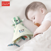 Newborn Plush Appease Towel Cute Cartoon Animals Shape Comfort Doll Soothing Hand Rattle Educational Stuffed Toy Gift