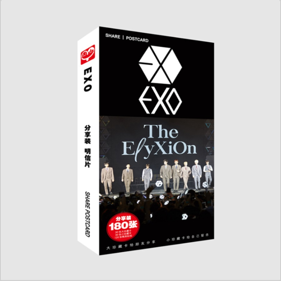 Jewelry & Accessories Jewelry Findings & Components Confident Kpop Exo New Fashion Photocards Fans Collective Postcard Set Sticker 180pcs/set