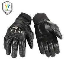 OZERO Men Motorcycle Gloves Genuine New Arrival Cowhide Leather Motocross Motorbike Biker Racing Car Riding Moto 1021