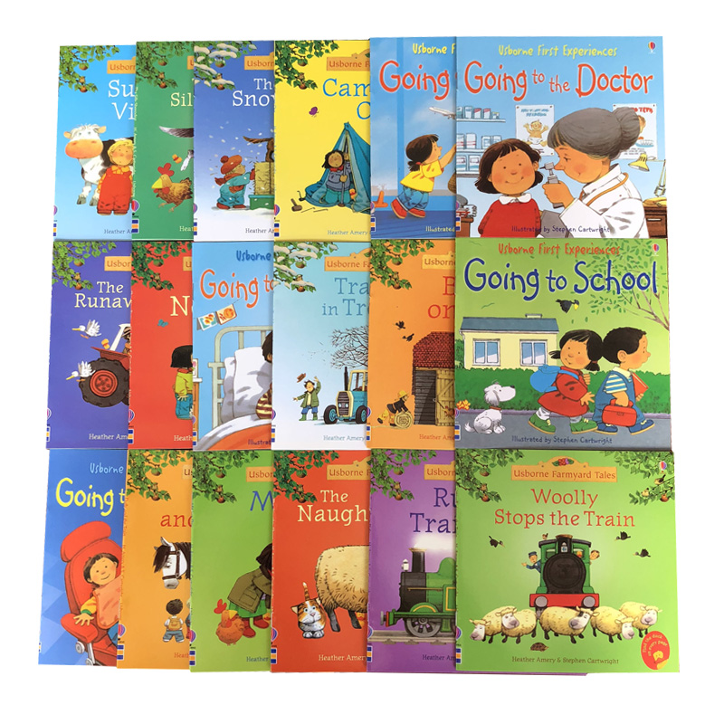 Random Choose 5pcs/set 15x15cm Usborne Best Picture Books Children Baby Famous Story English Farmyard Tales Series Farm Story