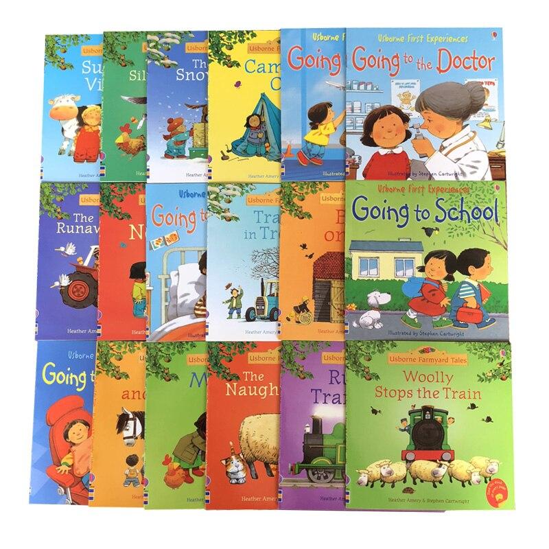 Rastgele choose 5 adet/takım 15x15 cm Usborne En Iyi Resim Kitapları Çocuk Bebek ünlü Hikaye İngilizce Çiftlik Masalları Serisi çiftlik hikayesi