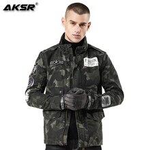 AKSR 2019 Autumn Men Jackets Streetwear Windbreaker Coat Hip Hop Camouflage Jacket Outerwear Denim Chaqueta Hombre