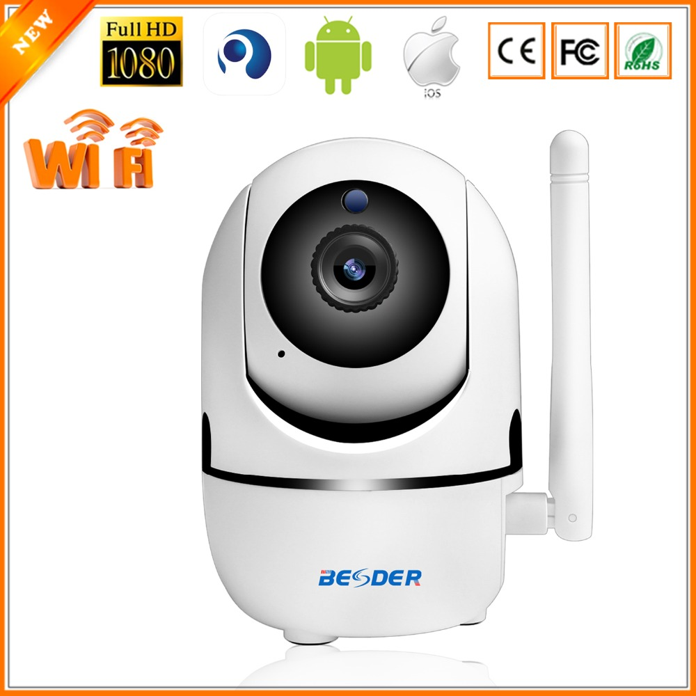 US $21 5 30% OFF BESDER Cloud Storage Wireless IP Camera 1080P 720P AI Body  Motion Auto Tracking Home Monitor Surveillance CCTV WiFi Baby Monitor-in