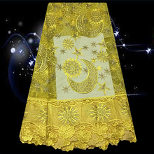 (5yards/lot) SDPN95, French lace fabric for party dress,African net lace fabric ON SALE PRICE