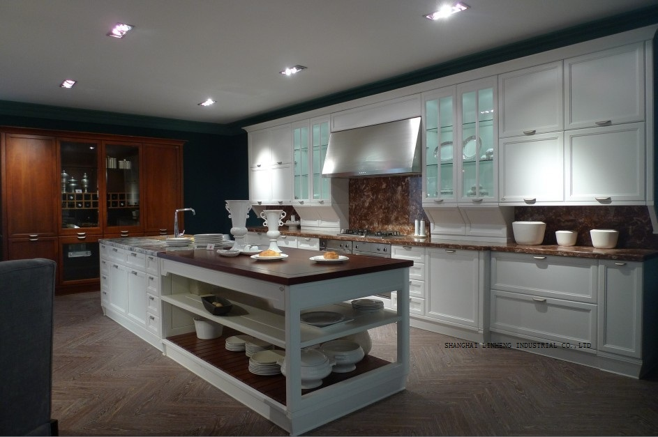 Classic Best-selling Cream Colored Kitchen Cabinets(LH-SW066)