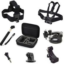 For GoPro Accessories Action Camera Bag Selfstick Tripod Mount Chest Head Strap for Go Pro Hero 5 4 SJCAM SJ4000 Xiaomi yi Cam