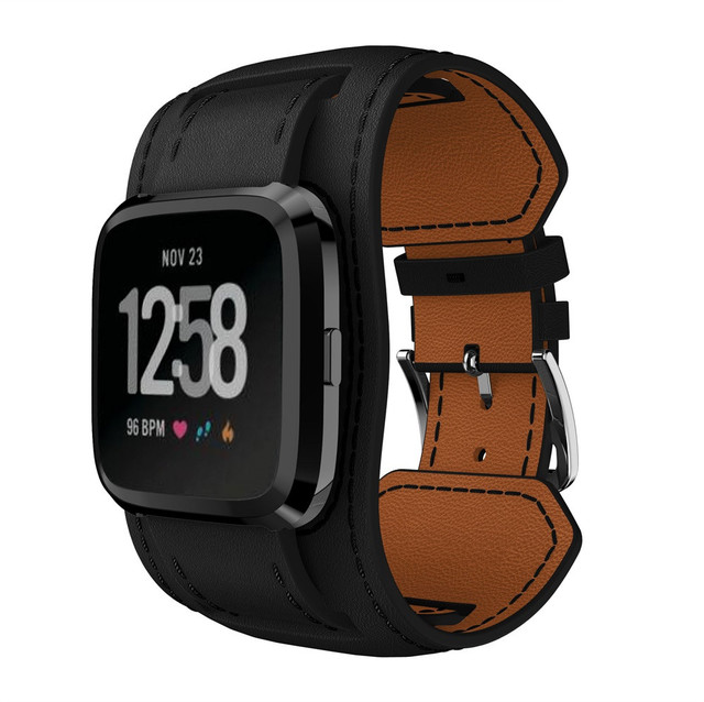 Fitbit Versa Wide Leather Strap