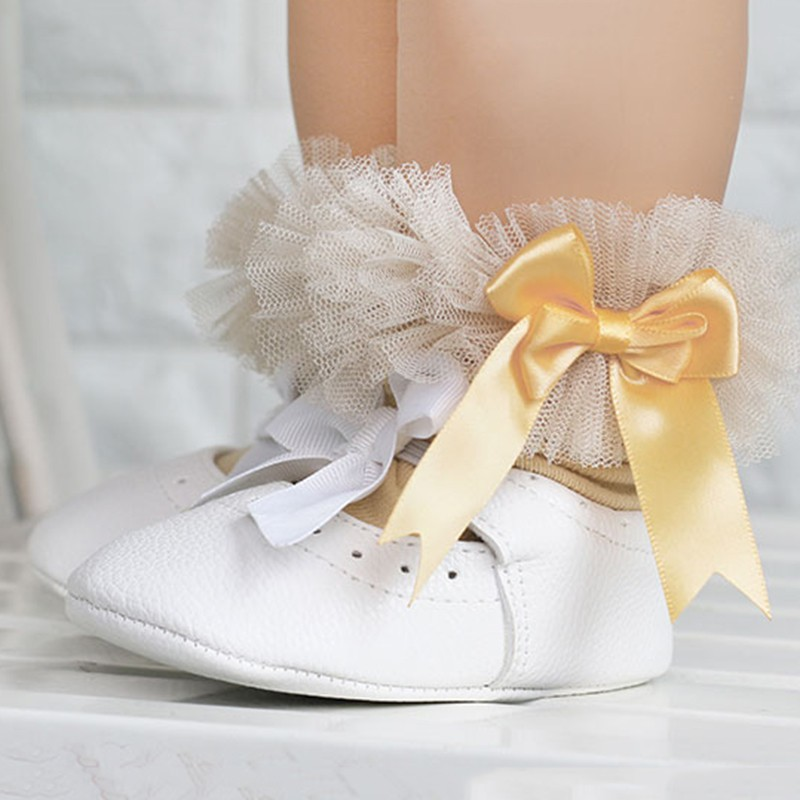 Lace Floral Baby Socks 0-5 Years Toddlers Infants Cotton Ankle Bow Socks Baby Girls Princess Cute Socks