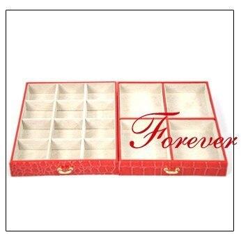 Big luxurious leather jewelry box
