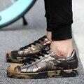 Novos Sapatos de Skate Camuflagem Sapatos Casuais Primavera 2017 Homens Lace-Up Flats Zapatos de Caminhada Ao Ar Livre Outono