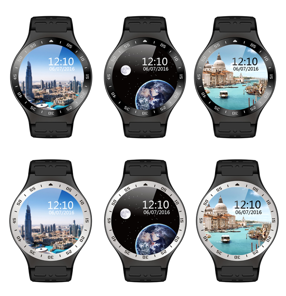 """S99A 3G Smartwatch Phone 1.33"""" Android 5.1 MTK6580 Quad Core 8GB ROM 2.0MP Camera WiFi Bluetooth Heart Rate Smart Watch PK KW88"""