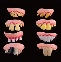 10pcs/lot Funny Scary Mouth Mask Trick Toy for April fool's day halloween party favor decoration