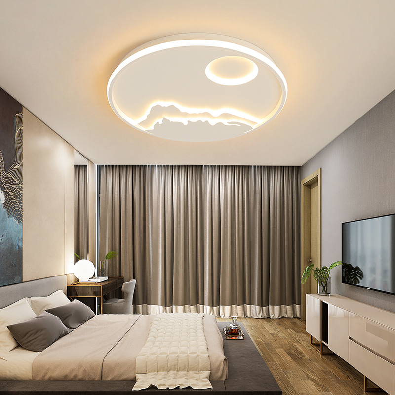 New Arrival Round Dimmable Led Chandelier For Living Room Bedroom Study Room White Color Modern led Chandelier Free Shipping цена