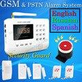 Горячий Продавать Бесплатная Доставка оптовые Беспроводной PSTN GSM Сигнализация 433 МГц Главная Охранная Охранной Сигнализации