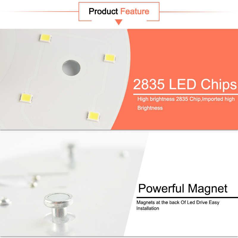 LED מודול LED פנל תקרת אור מנורת MINIModule להחליף אבזר מגנטי מקור אור לוח הנורה חיים ארוכים 220V 12W 18W 24W
