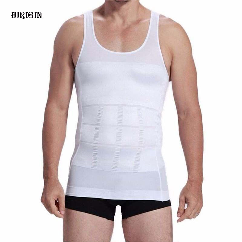 HIRIGIN 2018 Summer Men Slim Body Lift Shaper Belly Fatty BUSTER Underwear Vest Corset Compression Slimming Body Shaper