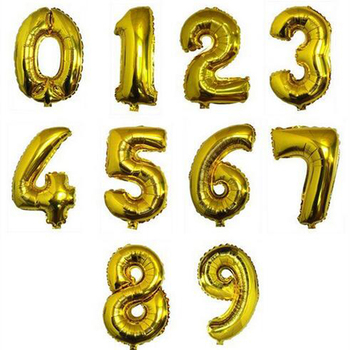 Gold/Sliver balloons Digital 0-9 Number Balloons Wedding Birthday Party Decorative Inflatable balao de festa casamento image