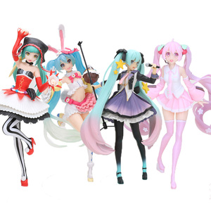 Pink Vocaloid Hatsune Miku Sakura 10th Anniversary Edition Cose rabbit ear ver PVC Anime Action Figures Collectible Model Toy(China)