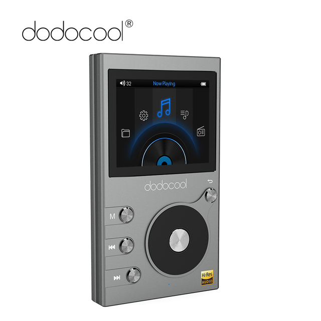 """Dodocool 高解像度 8 ギガバイト Mp3 プレーヤーの Hi-Fi ロスレス音楽プレーヤーラジオレコーダー FM ラジオ 2 """"液晶ディスプレイサポート TF カード"""