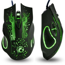 Hot Sale Estone X9 5000DPI LED Optical USB Wired Gaming Mouse Gamer Computer PC Laptop Professional Game Mice batter than X5 X7