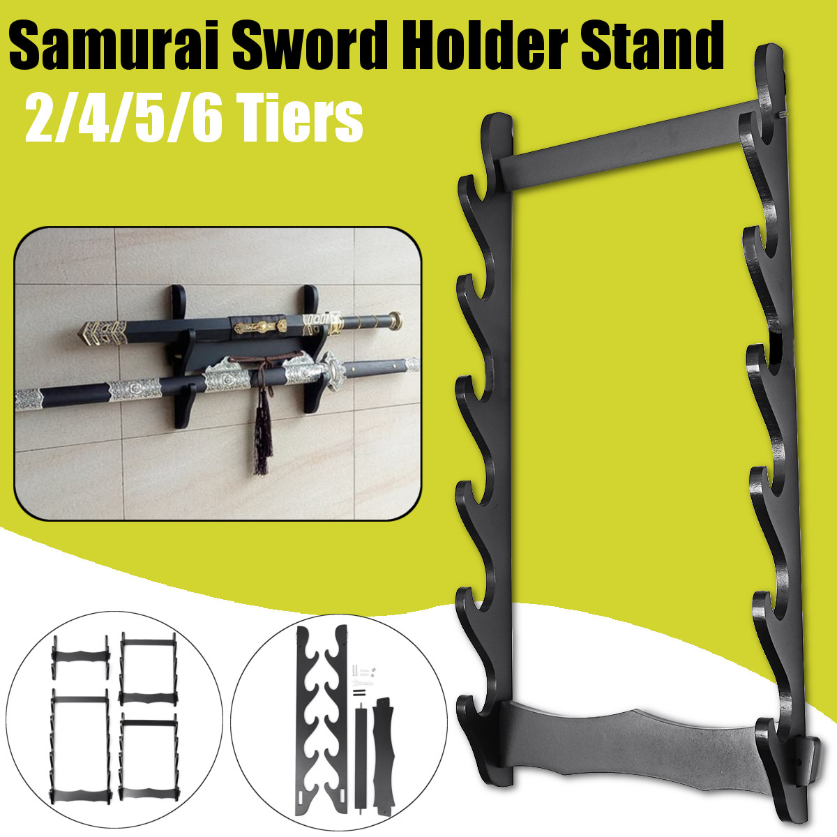 1pc 2//3//4 Tier Sword Stand Wall Mount Organizer Storage Display Stand Home Decor