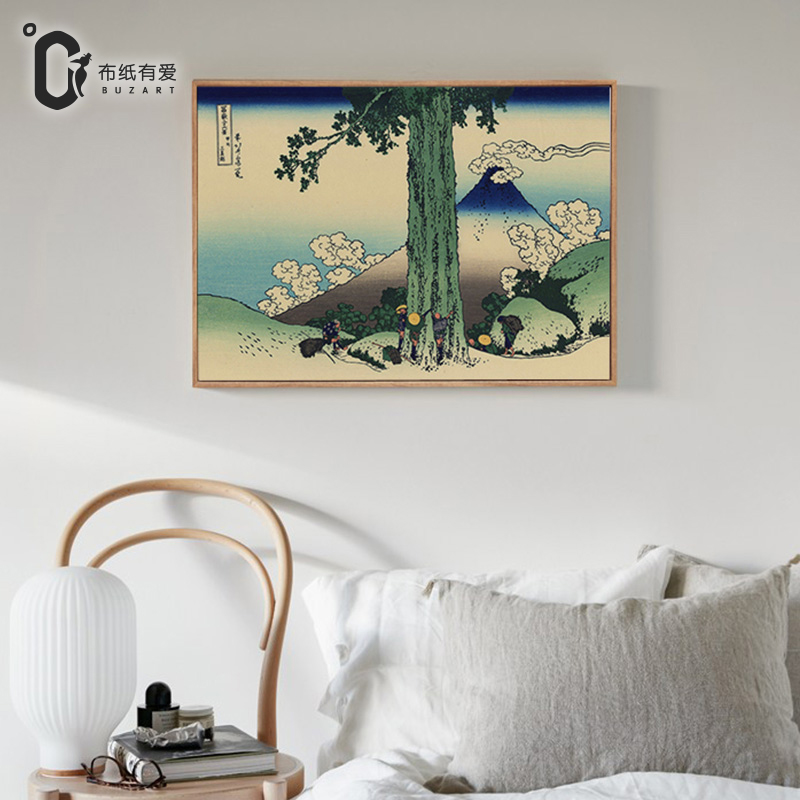 მთის ტილო იაპონური ukiyoe - სახლის დეკორაცია - ფოტო 4