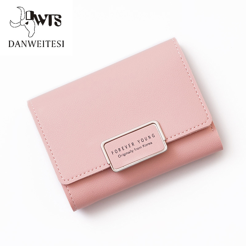 2018 small wallet women for coins cute wallet female leather women wallets zipper purses portefeuille femme purse Wallet Female