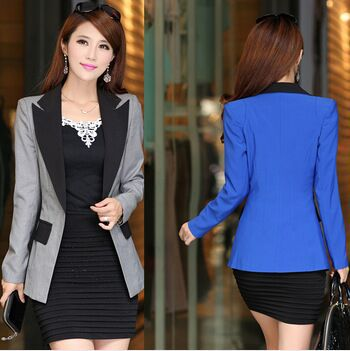 2019 New Korean Style Spring and Autumn Slim Women Blazer Jackets Notched Single Breasted Blazer Woman Suits Feminino lxy048