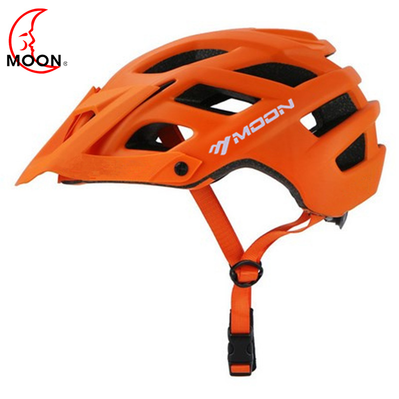 MOON MTB Cycling Bike Sports Safety Helmet OFF-ROAD Super Mountain Bike Cycling Helmet Men's Outdoor Riding Protective Helmet gub x3 16 hole outdoor mountain road cycling bike helmet yellow black