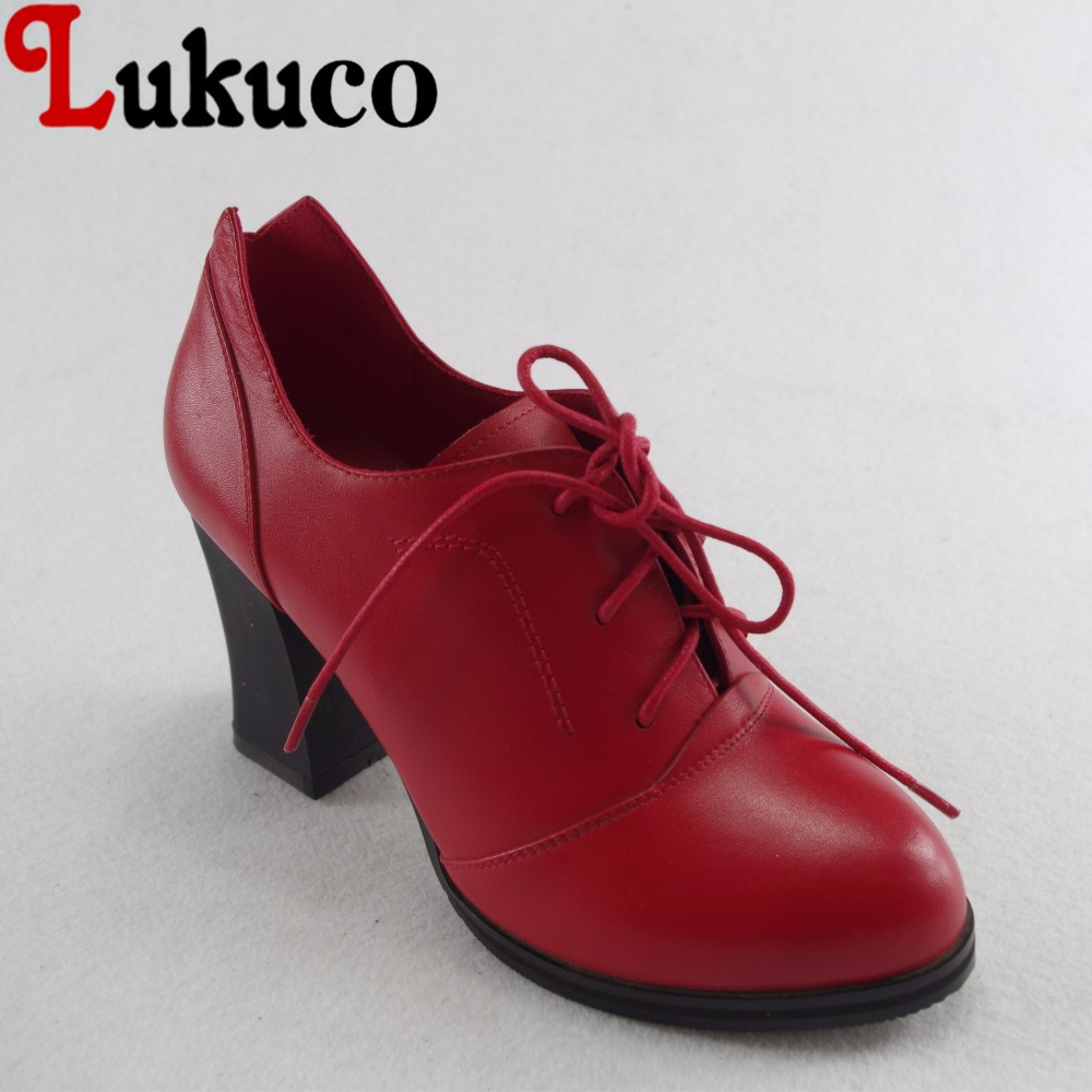 Lukuco mature pure color women pointed toe party pumps microfiber made high square heel shoes with pigskin inside lukuco pure color women mid calf boots microfiber made buckle design low hoof heel zip shoes with short plush inside