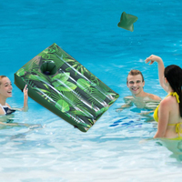 Water Sport Inflatable Giant Ring Toss Target Swimming Pool Game Inflatable Beanbag Toss Game Water Toy For Children and Adults